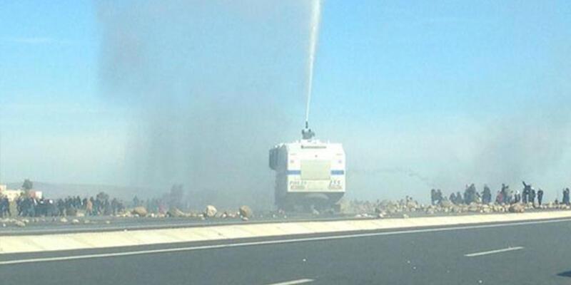 Nusaybin'de HDP'lilere polis müdahalesi