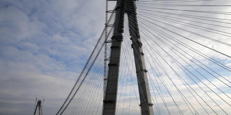 3'üncü köprüde iki yakanın birleşmesine 247 metre kaldı