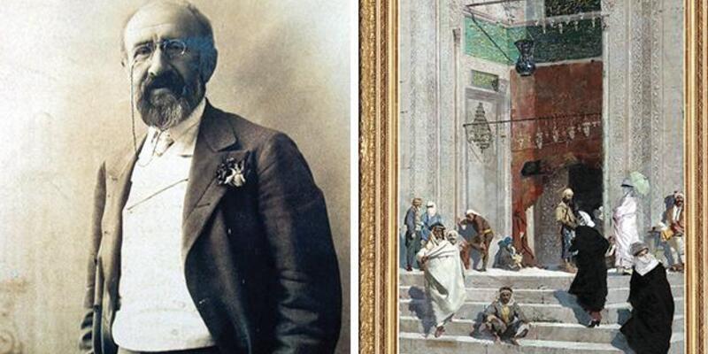"""Osman Hamdi Bey'in """"Cami Önü"""" tablosu 10 milyon TL'den satışa çıktı"""