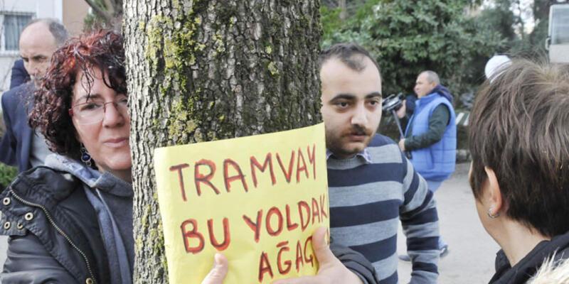 İzmit'te ağaç eylemi: 9 gözaltı