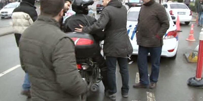 Eyleme destek veren motosikletli sürücüye trafik cezası