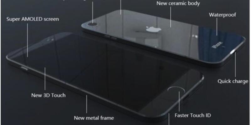 iPhone 7 Super AMOLED ekran konsepti!