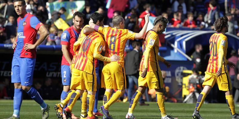 Barcelona Levante'yi 2 golle geçti
