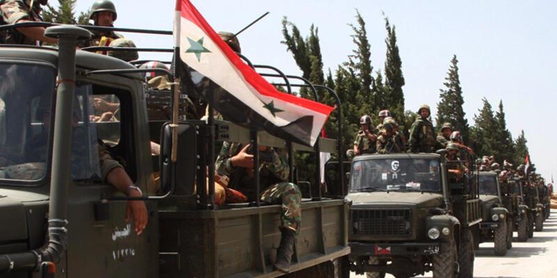 Suriye ordusu Türkiye sınırına ilerliyor