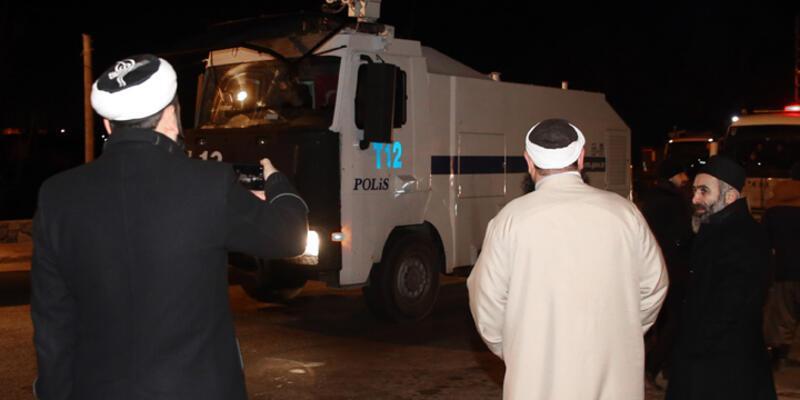 Beykoz'da külliye yıkımında TOMA'lı önlem