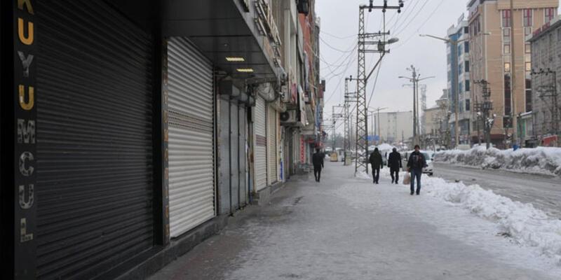 """Diyarbakır ve Hakkari'de """"hayatı durdurma"""" eylemi"""