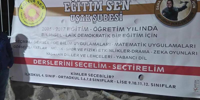 'Şikayet var' dendi, Eğitim-Sen'in afişleri toplatıldı