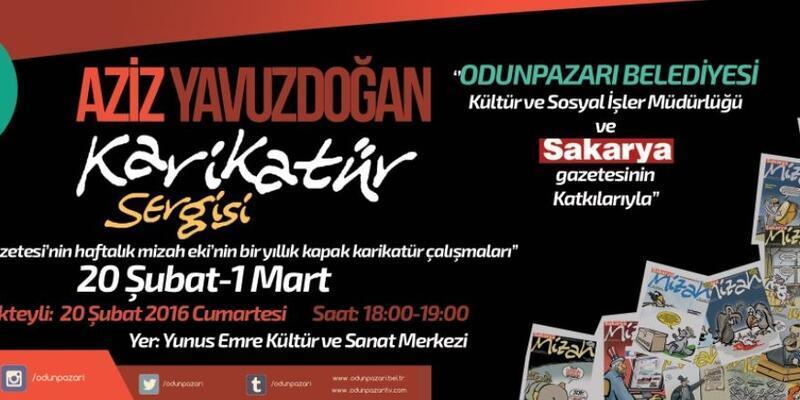 Aziz Yavuzdoğan'ın 8. kişisel karikatür sergisi Eskişehir'de