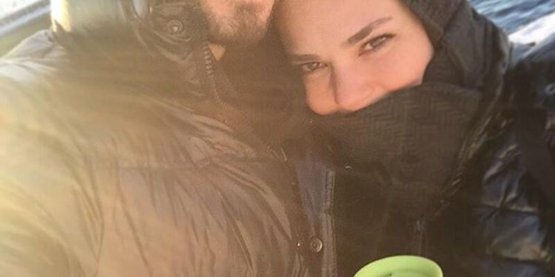 Murat Boz ve Aslı Enver'den ilanı aşk fotoğrafı