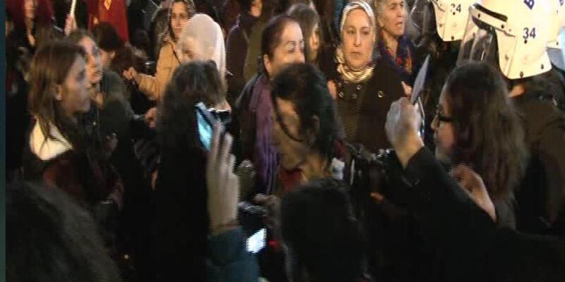 Kadıköy'de Cizre eylemi gergin bitti