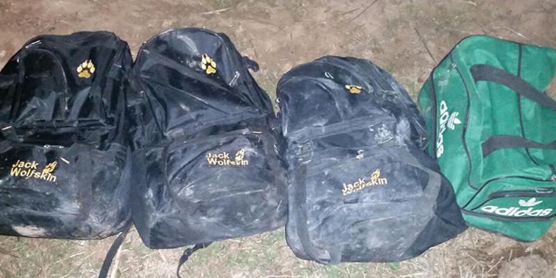 Sınırda 4 sırt çantasında 50 kilo patlayıcı