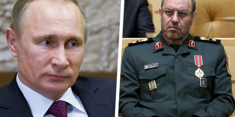 Putin, Moskova'da İran Savunma Bakanı ile görüştü