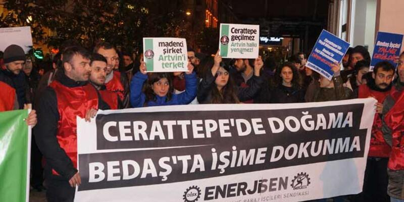 Beyoğlu'nda Cerattepe protestosu