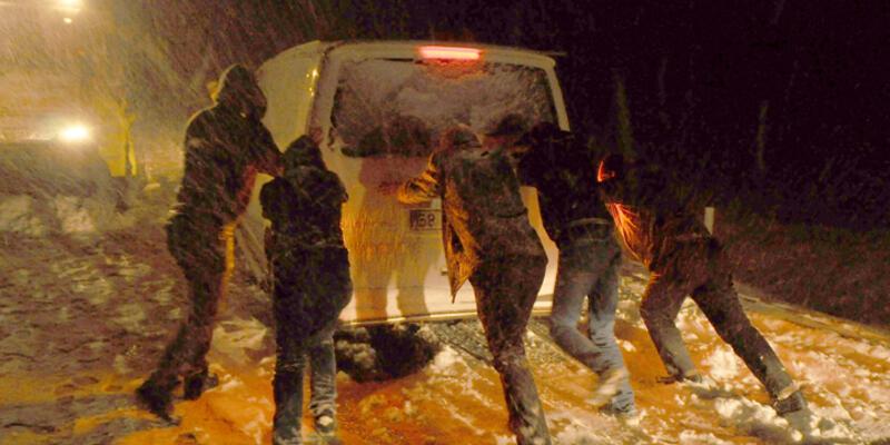 Yurtta etkili olan kar yağışı okullara tatil zili çaldırdı