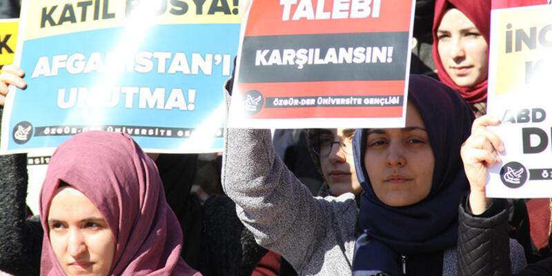 Beyazıt Meydanı'nda Suriye eylemi