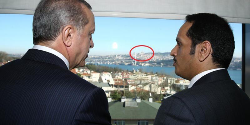 Erdoğan Conrad Otel'den Çamlıca Camii'ni gösterdi