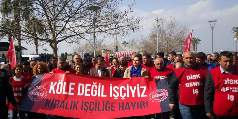 DİSK'den yeni yasaya protesto