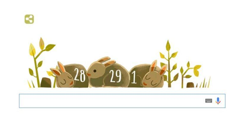 Google'dan eğlenceli 29 Şubat doodle'ı