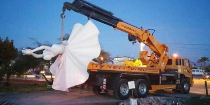 Özgecan Aslan Parkı'ndaki heykeller kaldırıldı