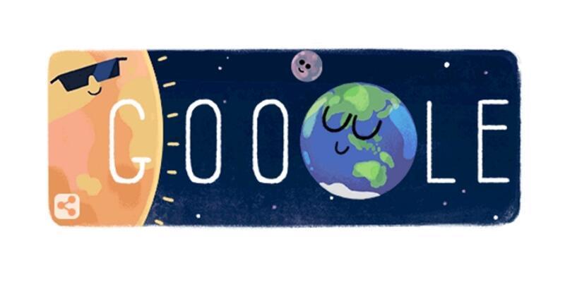 Google'dan tam Güneş tutulması doodle'ı