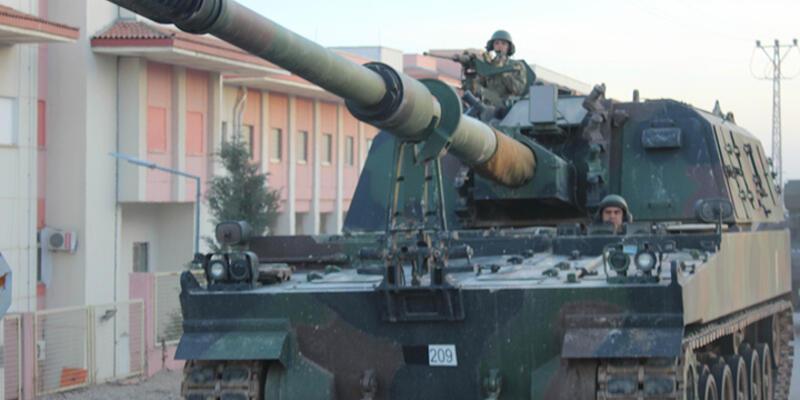 Obüsler Balkaya Dağları'ndaki PKK hedeflerini vurdu
