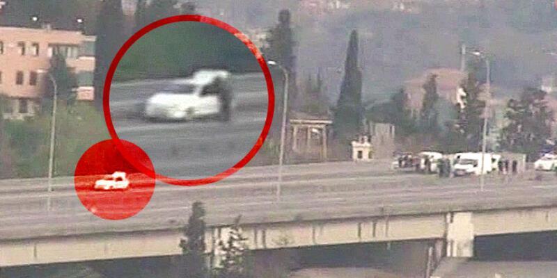 """Köprüde aracını terk eden sürücüye """"genel güvenliği tehlikeye düşürmek"""" işlemi"""