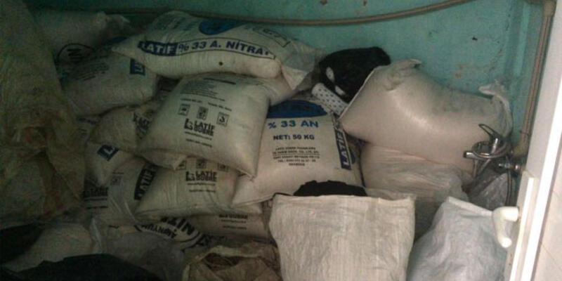 Mardin'de 2 ton 850 kilo amonyum nitrat ele geçirildi