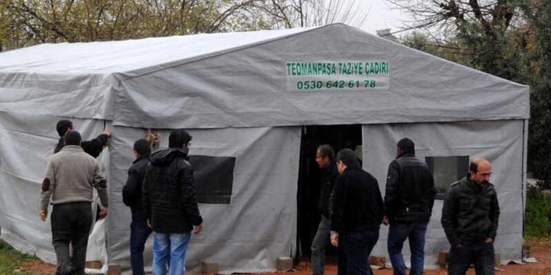 Teröristin taziye çadırına polis baskını