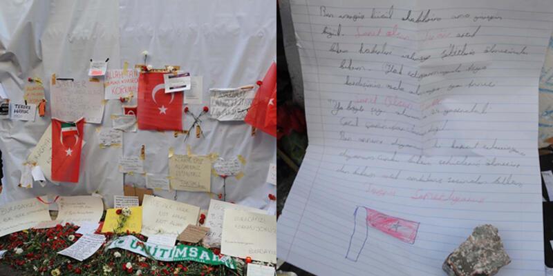 Olay yerinde küçük kızdan, duygulandıran mektup...