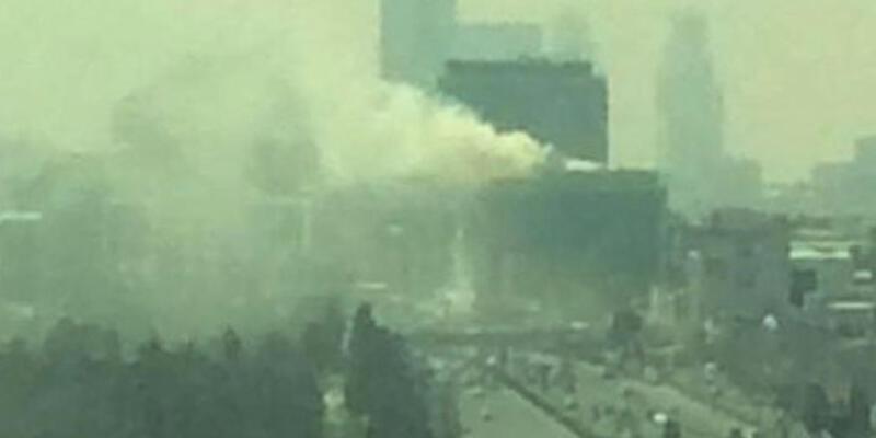 MHP İl Başkanlığı'nın bulunduğu iş merkezinde yangın