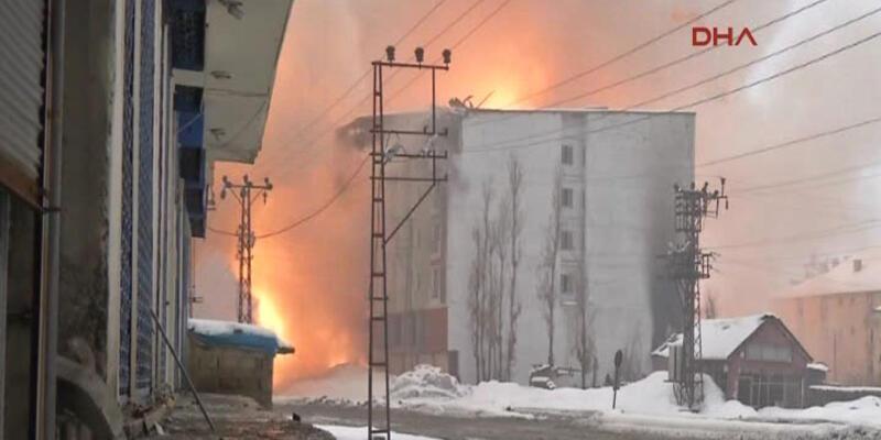 PKK'lılar bulundukları binayı kaçtıkları sırada böyle patlattı
