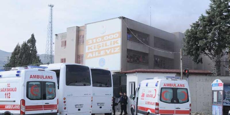 Hatay'da Suriyelilerin kaldığı Geri Gönderme Merkezi'nde yangın çıktı