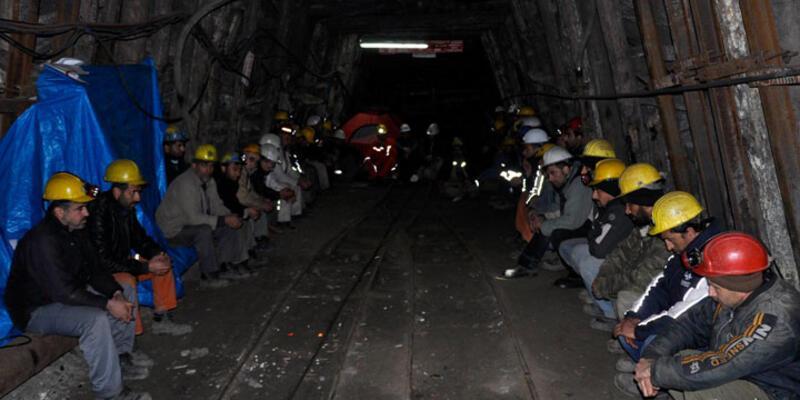 Yeni Çeltek maden işçileri açlık grevi eylemini bitirdi