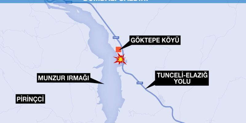 Tunceli'de askeri aracın geçişi sırasında patlama!