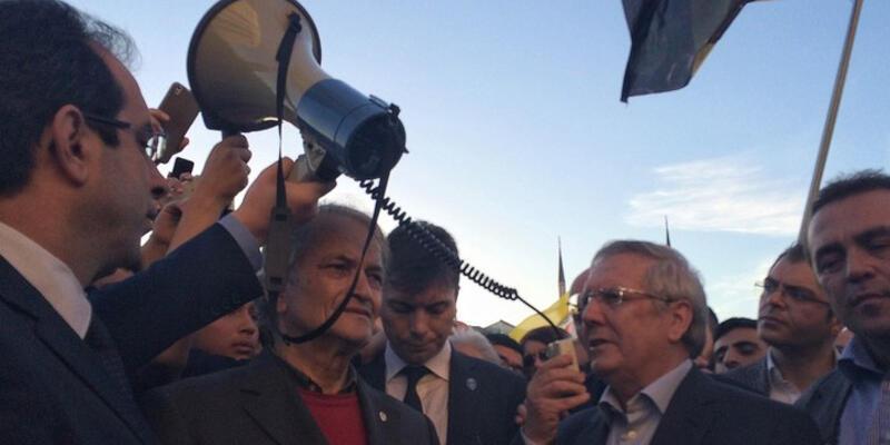 Aziz Yıldırım ve Fenerbahçe yönetimi Çağlayan'da konuştu