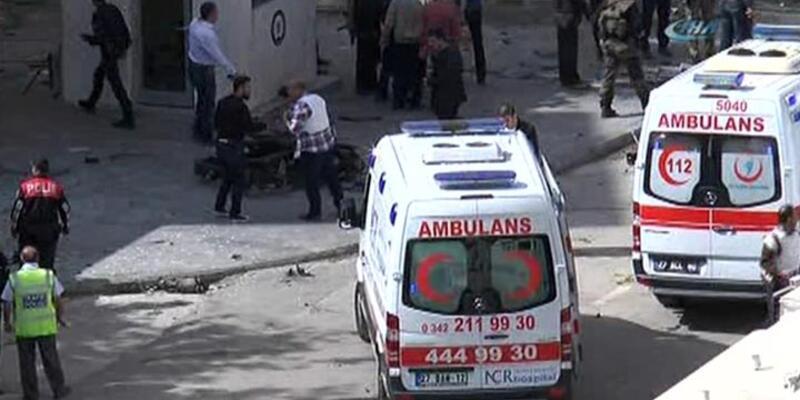 Gaziantep Emniyet Müdürlüğü'ne bomba yüklü araçla saldırı