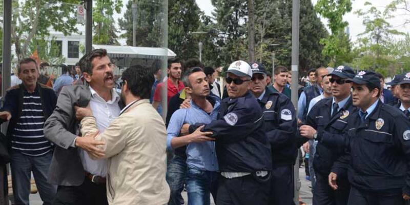 Konya'da 1 Mayıs kutlamalarında HDP'lilere tepki