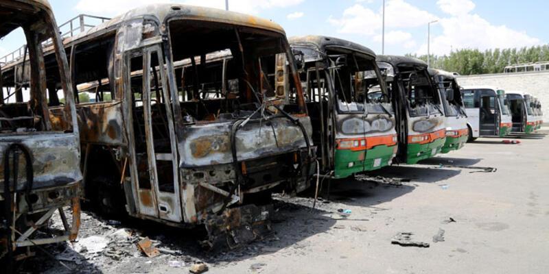 Bin Ladin işçileri Mekke'de şirketin otobüslerini yaktı