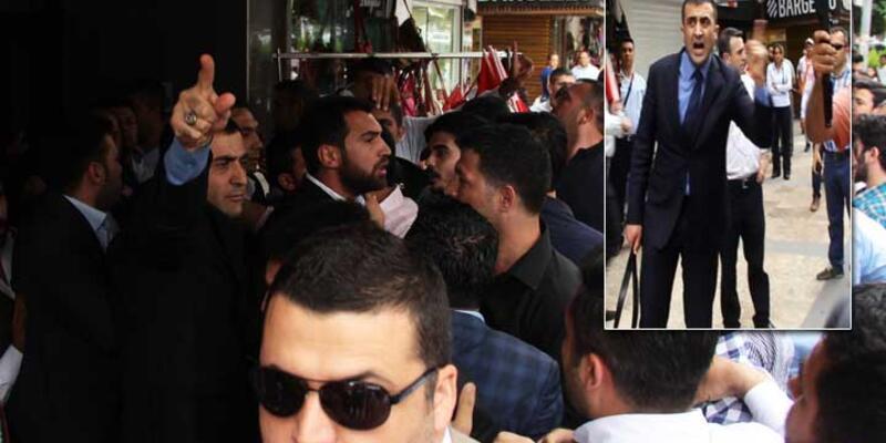 MHP'lilerin basın açıklamasında arbede