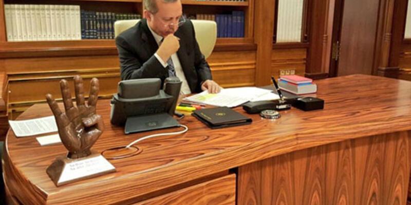 Erdoğan'ın ''eli'' TBMM'de dağıtıldı