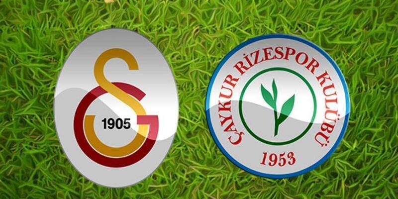 Galatasaray - Çaykur Rizespor Maçı Saat kaçta? Gs Rize Maçı Hangi Kanalda?