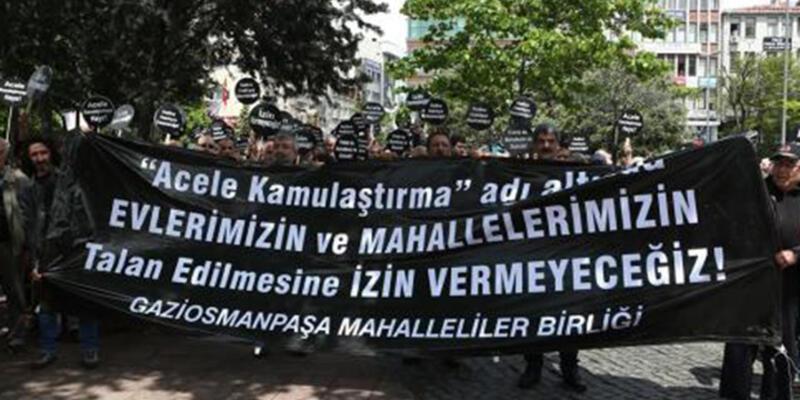 Gaziosmanpaşalılardan kamulaştırma kararına protesto