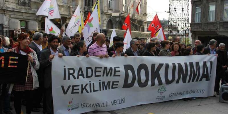 HDP'nin 'Vekilime Dokunma' eylemine polis müdahalesi: 8 gözaltı