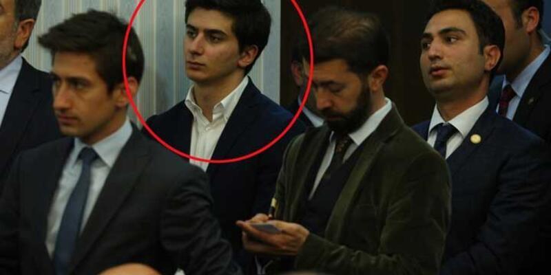 Davutoğlu'nun oğlu da toplantıyı izledi