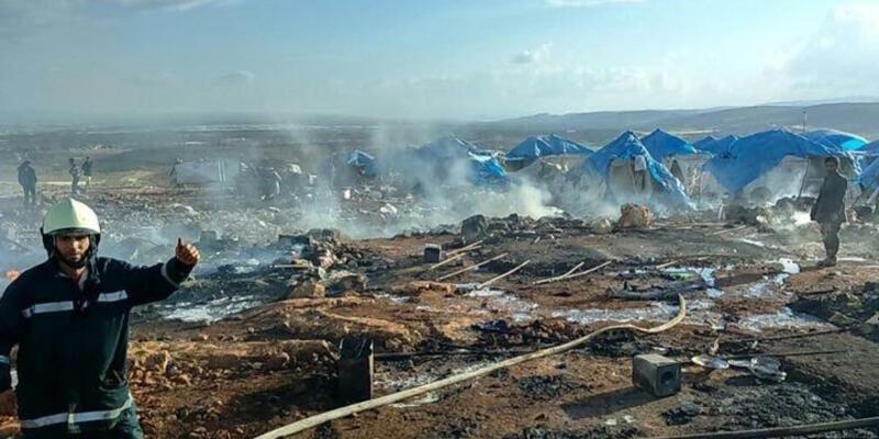 İdlib'de çadır kente saldırı