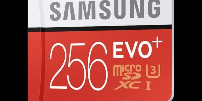 256 GB'lık MicroSD Bellek!