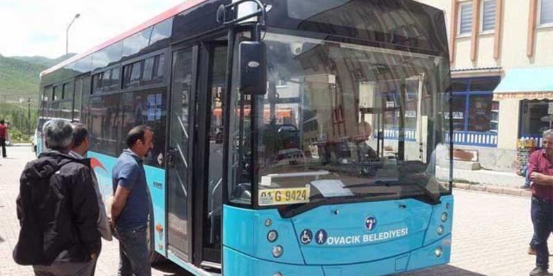 Ovacık'ın komünist başkanı ilçeye yeni otobüs aldı