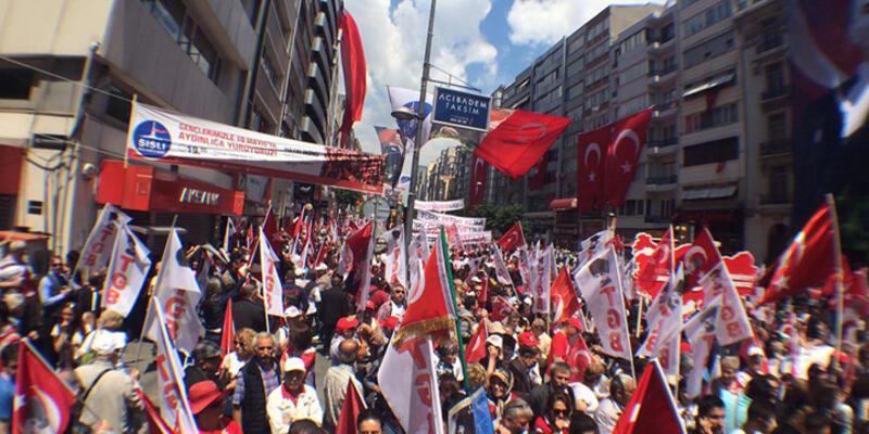 Şişli'de 19 Mayıs yürüyüşü