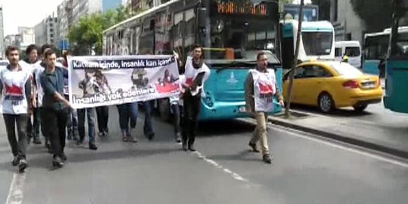 Zirveyi protesto edenler gözaltında