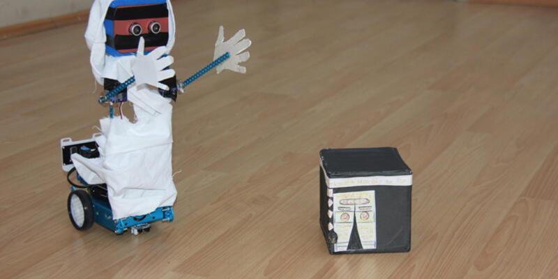Bingöl'de yapıldı: Bu da 'Hacı Robot'